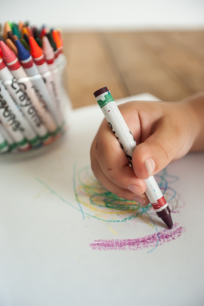 Free Stock Photos for Blogs - Child Coloring with Crayons 2