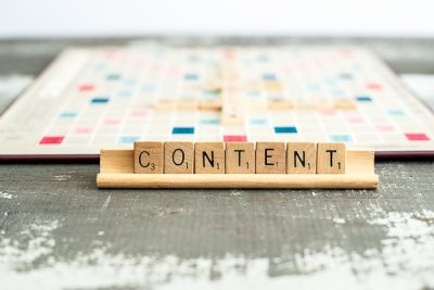 Free Stock Photos for Blogs - Scrabble Tiles Blog Content 1