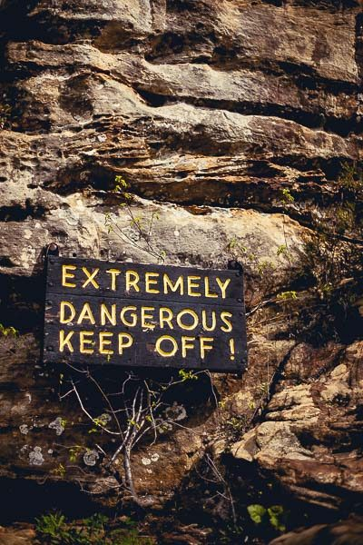 Free Stock Photos for Blogs - Danger Keep Off Rocks 1