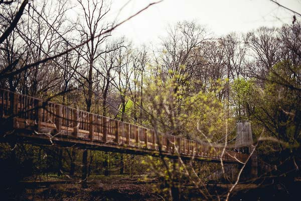 Free Stock Photos for Blogs - Swinging Bridge over the River 1