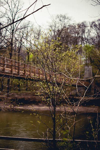 Free Stock Photos for Blogs - Swinging Bridge over the River 2
