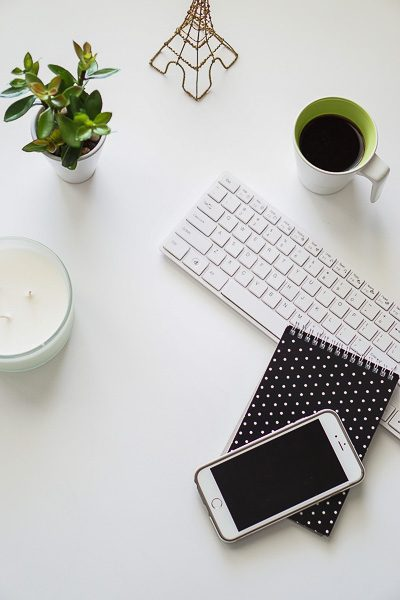 Free Stock Photos for Blogs - Black and Green Office Desk 3