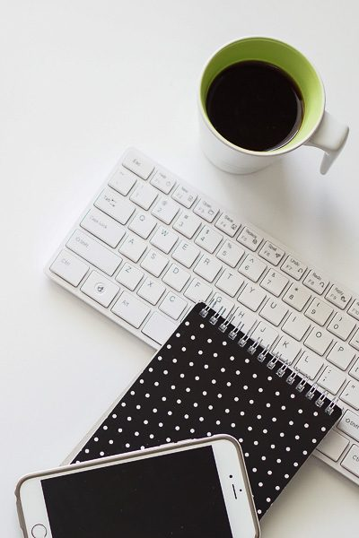 Free Stock Photos for Blogs - Black and Green Office Desk 4