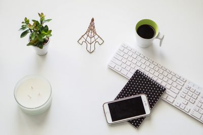 Free Stock Photos for Blogs - Black and Green Office Desk 6