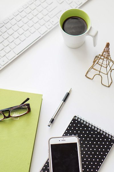 Free Stock Photos for Blogs - Black and Green Office Desk 8