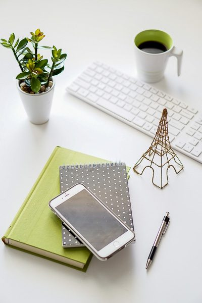 Free Stock Photos for Blogs - Black and Green Office Desk 13