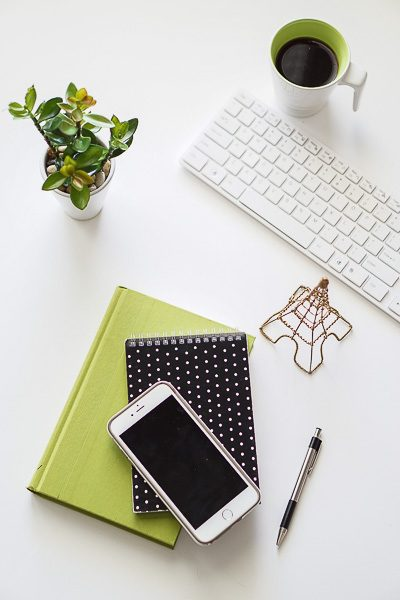Free Stock Photos for Blogs - Black and Green Office Desk 14