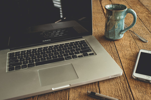 Free Stock Photos for Blogs - Laptop and Coffee 1