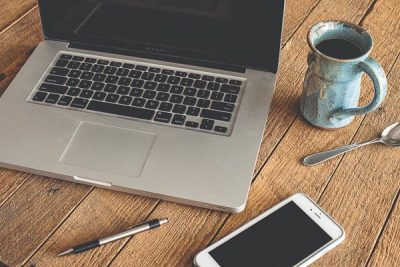 Free Stock Photos for Blogs - Laptop and Coffee 2