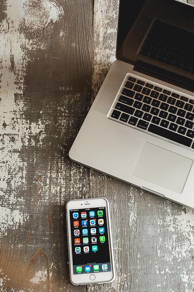 Free Stock Photos for Blogs - Laptop Computer and Iphone 22