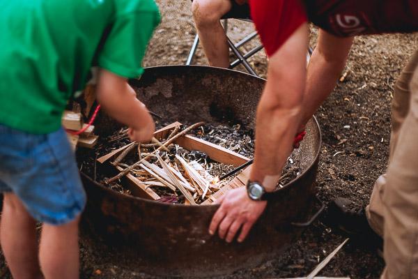 Free Stock Photos for Blogs - Building a Campfire 1