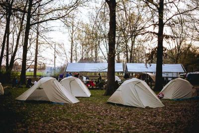 Free Stock Photos for Blogs - Boy Scout Camping Tents 1