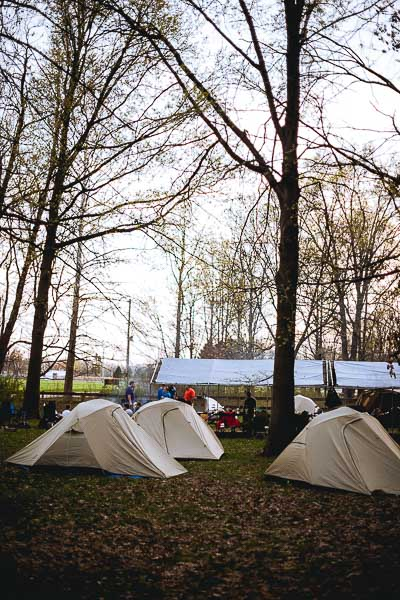 Free Stock Photos for Blogs - Boy Scout Camping Tents 2