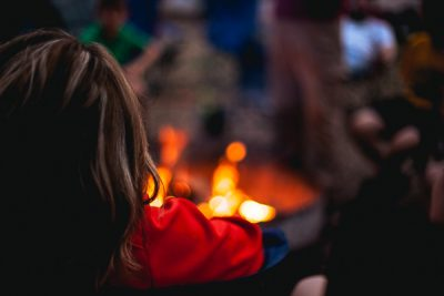 Free Stock Photos for Blogs - People around the Campfire 1