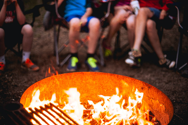 Free Stock Photos for Blogs - People around the Campfire 2