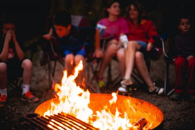 Free Stock Photos for Blogs - People around the Campfire 3