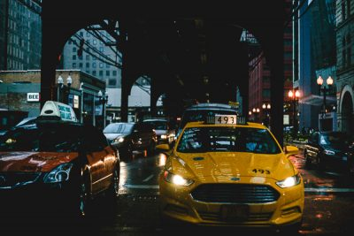 Free Stock Photos for Blogs - City Street with Taxi 1