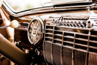 Free Stock Photos for Blogs - Classic Car Dashboard 1