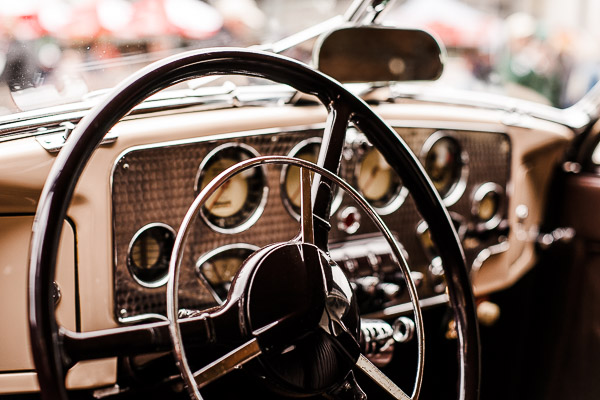 Free Stock Photos for Blogs - Classic Car Steering Wheel 1