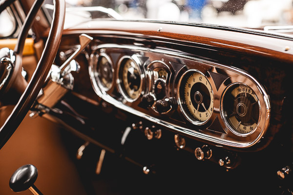 Free Stock Photos for Blogs - Classic Car Dashboard 2