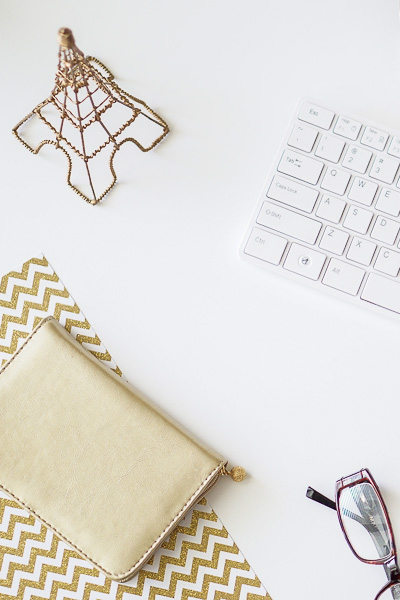 Free Stock Photos for Blogs - Paris Gold and Cream Office Desk 5