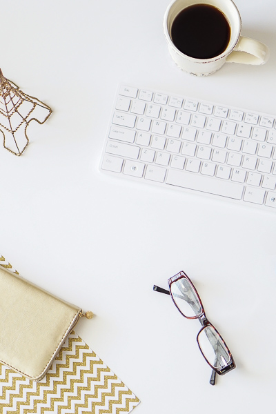 Free Stock Photos for Blogs - Paris Gold and Cream Office Desk 6