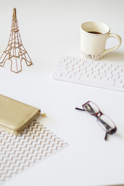 Free Stock Photos for Blogs - Paris Gold and Cream Office Desk 9