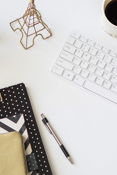 Free Stock Photos for Blogs - Paris Black and Gold Office Desk 3