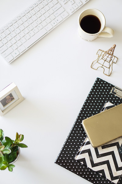 Free Stock Photos for Blogs - Paris Black and Gold Office Desk 7