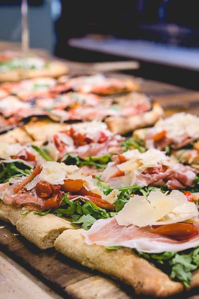 Free Stock Photos for Blogs - Prosciutto Arugula and Mozzarella Pizza 1