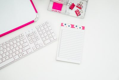 Free Stock Photos for Blogs - Hot Pink Office Desk 2