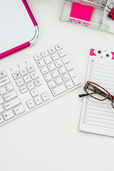 Free Stock Photos for Blogs - Hot Pink Office Desk 3