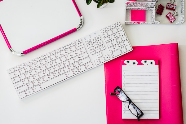 Free Stock Photos for Blogs - Hot Pink Office Desk 4