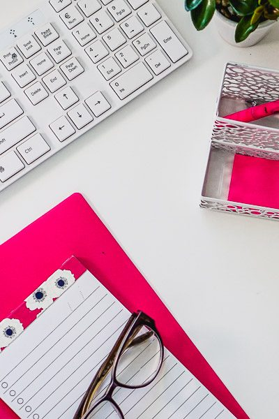 Free Stock Photos for Blogs - Hot Pink Office Desk 6