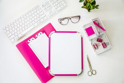 Free Stock Photos for Blogs - Hot Pink Office Desk 13