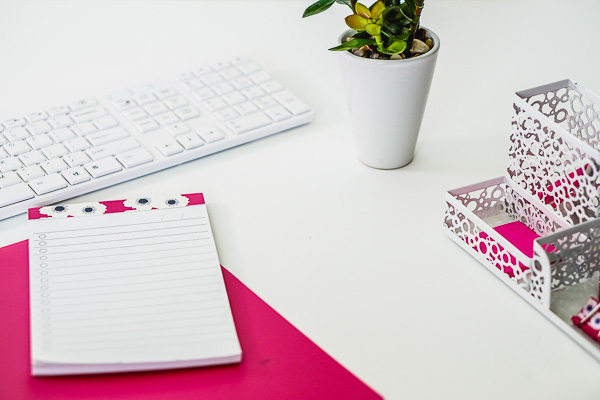 Free Stock Photos for Blogs - Hot Pink Office Desk 17