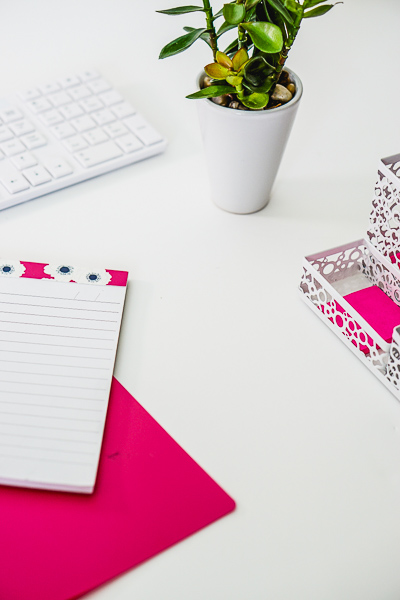 Free Stock Photos for Blogs - Hot Pink Office Desk 18