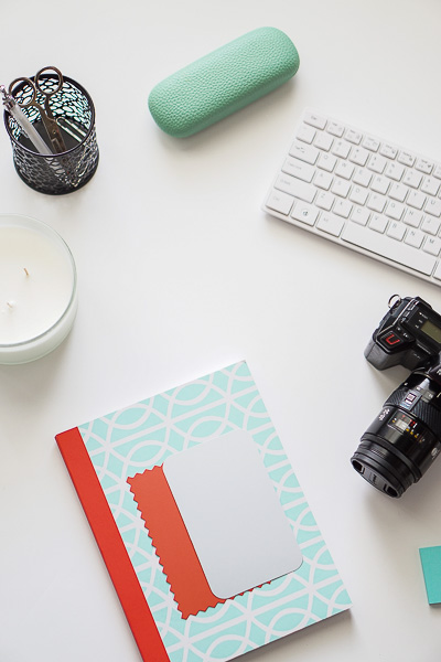 Free Stock Photos for Blogs - Mint Green and Coral Office Desk 1