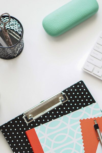Free Stock Photos for Blogs - Mint Green and Coral Office Desk 3