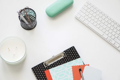 Free Stock Photos for Blogs - Mint Green and Coral Office Desk 4