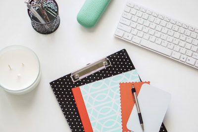 Free Stock Photos for Blogs - Mint Green and Coral Office Desk 5