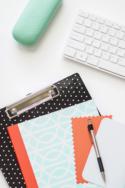 Free Stock Photos for Blogs - Mint Green and Coral Office Desk 6
