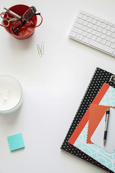Free Stock Photos for Blogs - Mint Green and Coral Office Desk 7