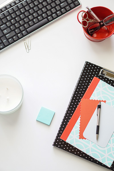 Free Stock Photos for Blogs - Mint Green and Coral Office Desk 8