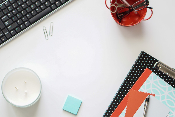 Free Stock Photos for Blogs - Mint Green and Coral Office Desk 9