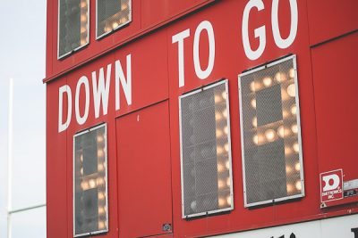 Free Stock Photos for Blogs - Football Game Scoreboard 1