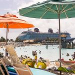 Free Stock Photos for Blogs - Cruise Ship docked at the Beach