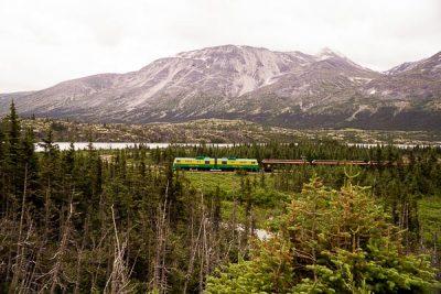 Free Stock Photos for Blogs - Train in the Yukon Mountains 1